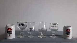 Vintage beer glasses set