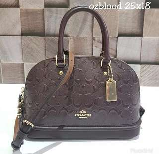 Coach Mini Sierra Debossed Oxblood sz 25x18