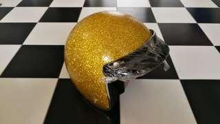 Gold Glitter Helmet