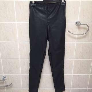H&M leather look pants/leggings
