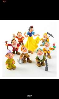 (WHOLE SET)6-10cm Tall Disney Character Snow White and the 7 Dwarfs