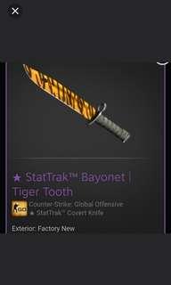 Cheap CSGO Bayonet Tiger Tooth FN ST | CSGO KNIVES