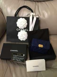 Chanel Large card holder 26字頭 原價570 euros 魚子醬皮 boy 卡片套 銀包 wallet