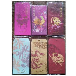 2 pcs RISIS Year of Dog Rooster Monkey Goat Horse Dragon Rabbit Red Packet / Ang Bao Pow Pao Pau / Sampul Duit
