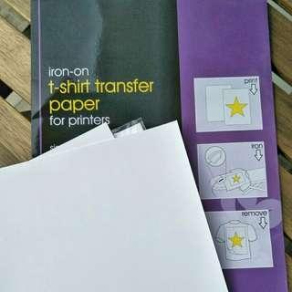 2PCS Iron-on Shirt Transfer Paper (Inkjet)