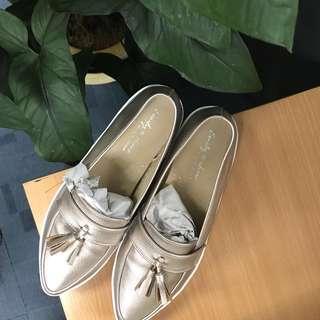 Loafer Flats (Rose Gold)
