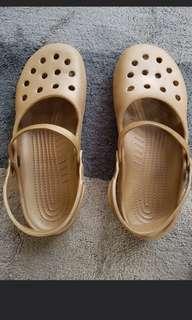 Crocs authentic gold