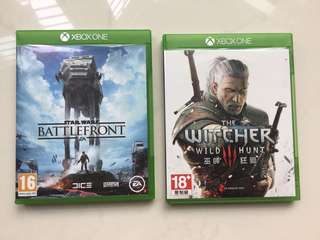 Xbox One Witcher 3 and battlefront