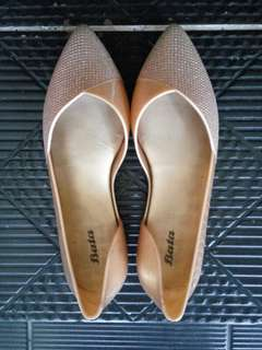 FLAT SHOES GLITTER GOLD