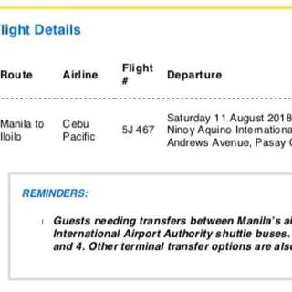 MNL-ILOILO-BACOLOD-MNL FOR 2 PAX