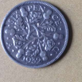 1932 GB six pence coin.
