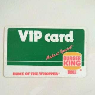 FOC Postage Burger King VIP card