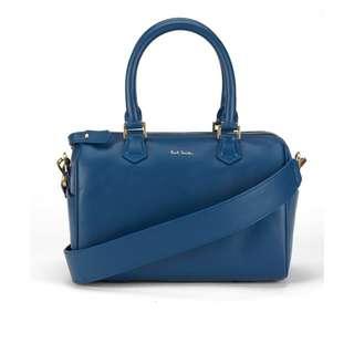 全新 Paul Smith Bowling Bag 真皮藍色手挽袋 側揹袋 購自專門店 原價$18000