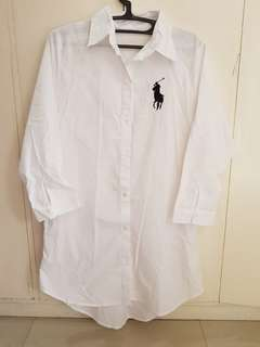 White Polo Dress