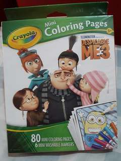 Crayola Mini Coloring Pages Despicable Me 3