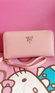 🚚 粉橘色錢包/長夾/手機包
