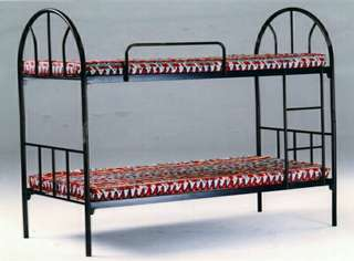 Bed Frame Double Deck - Black Painted