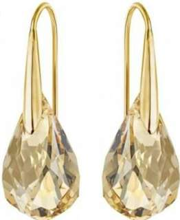 Swarovski gold crystal teardrop earrings ORIGINAL - BRAND NEW