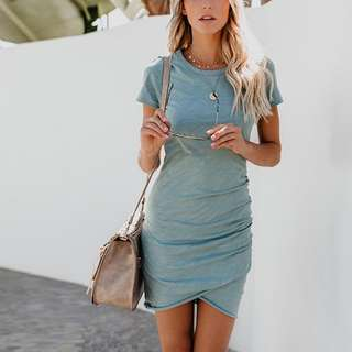 [PO] Tshirt Slit Dress