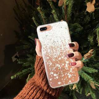 Glitter Snowflakes Case IP6/6S (ONHAND)