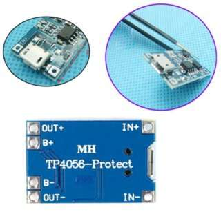 TP4056 Connector Lithium Battery Charging Module MICRO Interface (18650 charger)