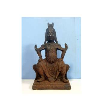 Vintage bronze statue Chinese deity Tibetan seldom seen or available for sale