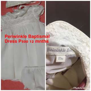 Baptismal Dress Periwinkle 12 months
