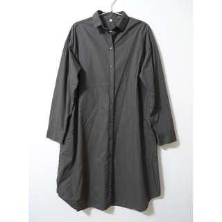 🚚 MUJI 無印良品 日版長版襯衫 外套 洋裝 外套 罩衫 unqilo