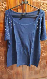 Kaos blue bigsize / jumbo