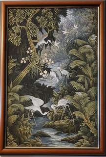 Framed Oil Painting - Mythical Forest Night Series