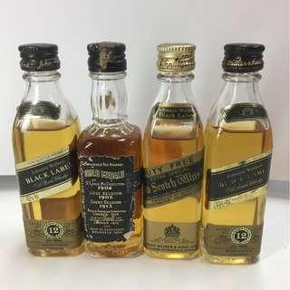 Miniature Liquor Collection
