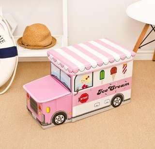 Storage Box/Cartoon Storage BUS Kotak Penyimpanan mainan