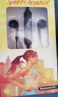 Black Bluetooth Sports Headset