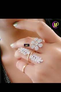 Adjustable double (joint) finger ring