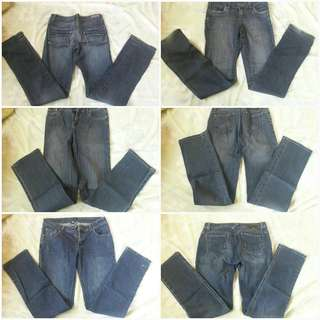 Foxy jeans and folded and hung jeans