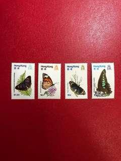 香港郵票-香港蝴蝶郵票一套