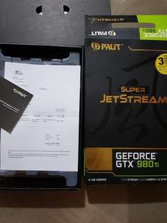 PALIT Geforce GTX 980TI Super Jetstream