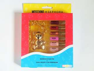 Limited Edition Moschino x Sephora Bear Lip Gloss Set