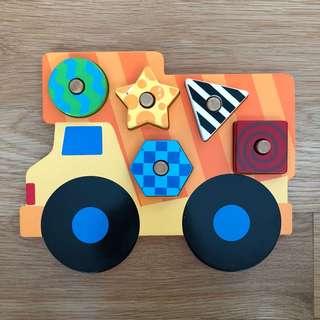 Stephen Joseph wooden peg puzzle
