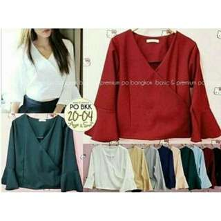 GALLY TOP BAHAN TWISTCONE ALLSIZE FIT TO L