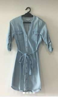 Cotton On Washed Out Denim Dress Jeans #July50