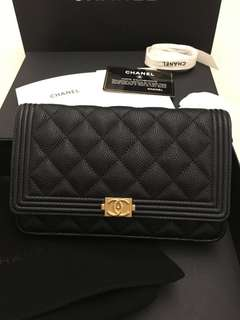 Chanel Caviar Boy WOC GHW