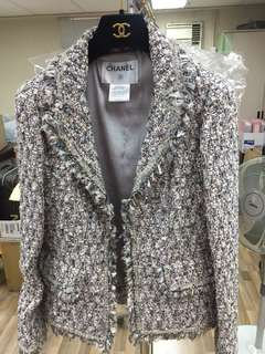 Chanel tweed jacket Sz 34