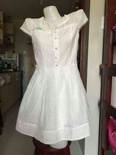 Korean inspired white dress