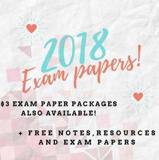 🚚 2018 Exam papers / test papers