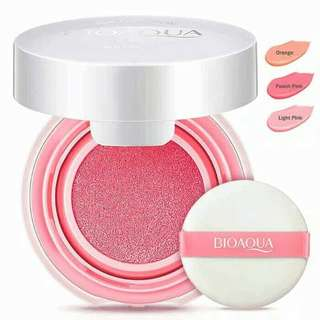 Ready Stock Bioaqua Smooth Muscle Flawless Blush On Cushion Original