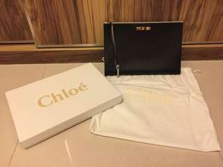 CHLOE - classic leather clutch