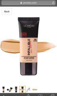 L'oreal Infallible Pro Matte Foundation in 105 Natural Beige