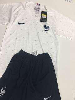 FRENCH NATIONAL FOOTBALL TEAM JERSEY AND SHORT