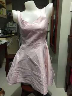 Korean inspired metallic dress in lavender